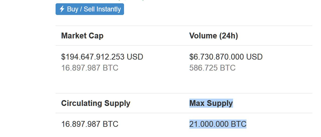 cantidad maxima de bitcoins