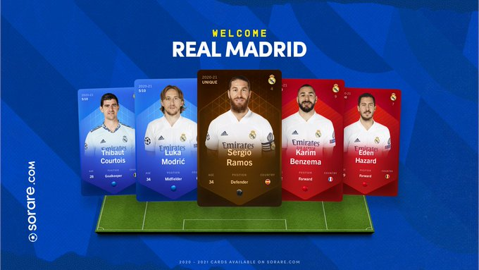 Real Madrid llega a Sorare como cromo digital